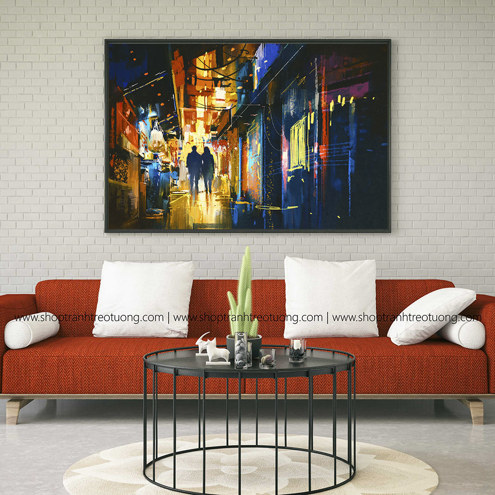 Tranh decor: Couple walking