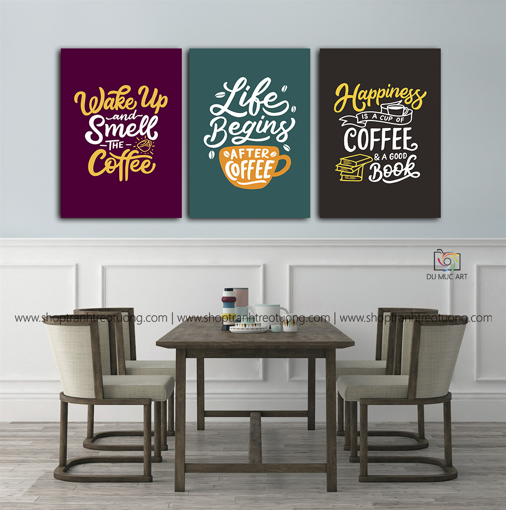 Tranh decor: Life begin after coffee