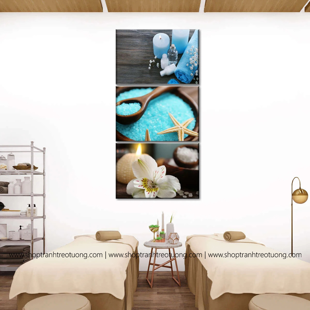 Tranh decor: Cyan spa