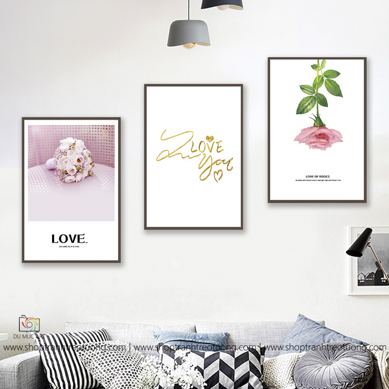 Tranh decor: I love you