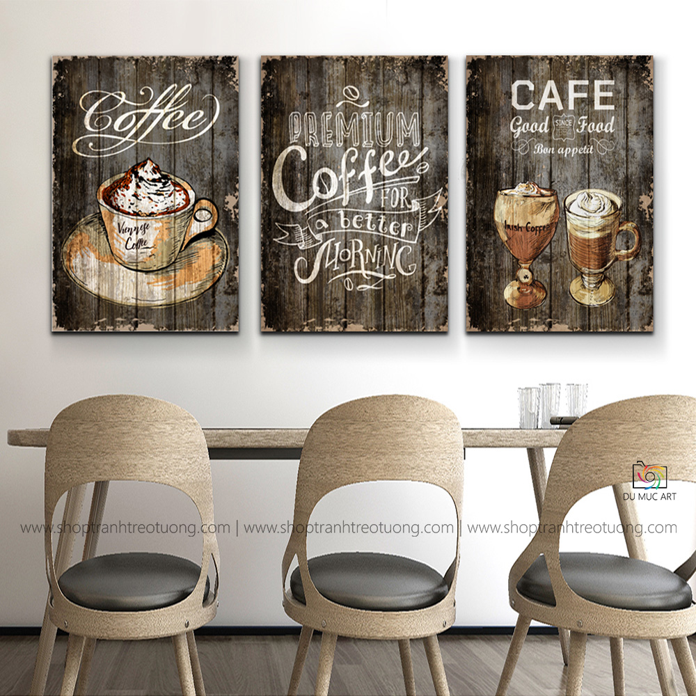 Tranh decor: Cafe