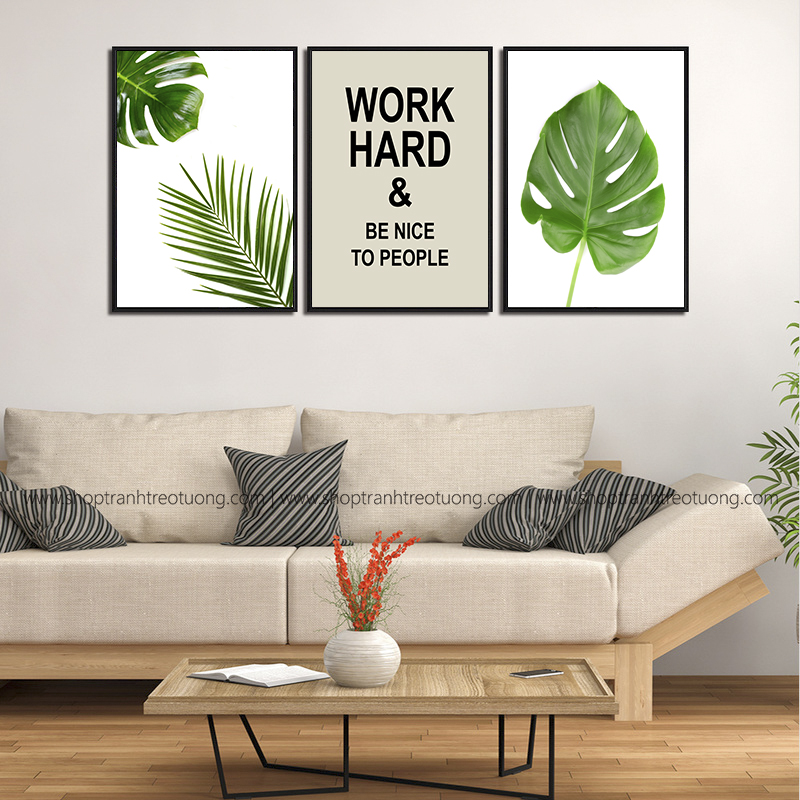 Tranh canvas: Work hard and be nice to people